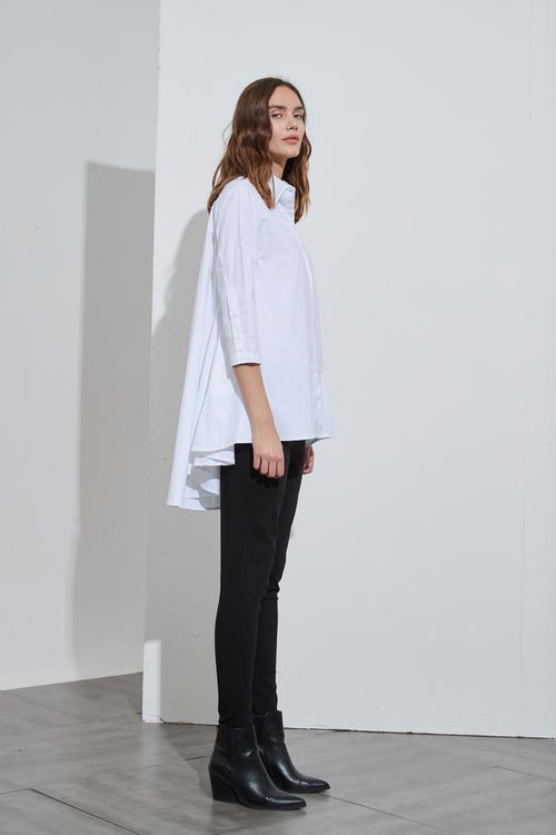 Cotton Swing Back Shirt- White