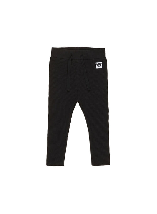 Black Rib Legging- Black