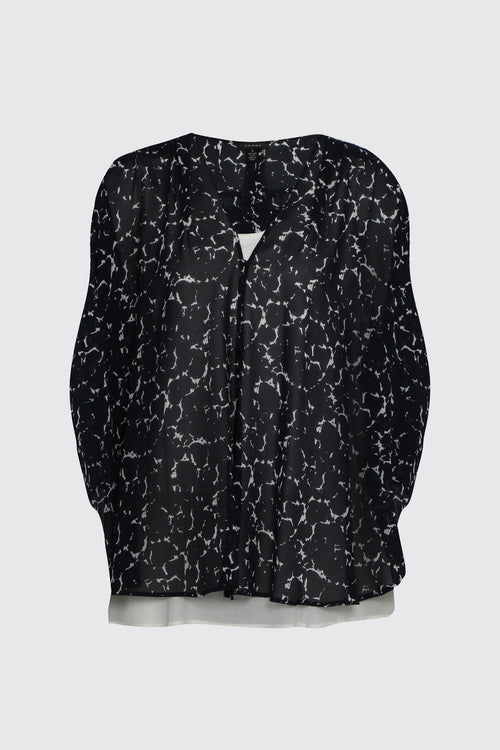 Galleria Jacket- Midnight/ Spring White