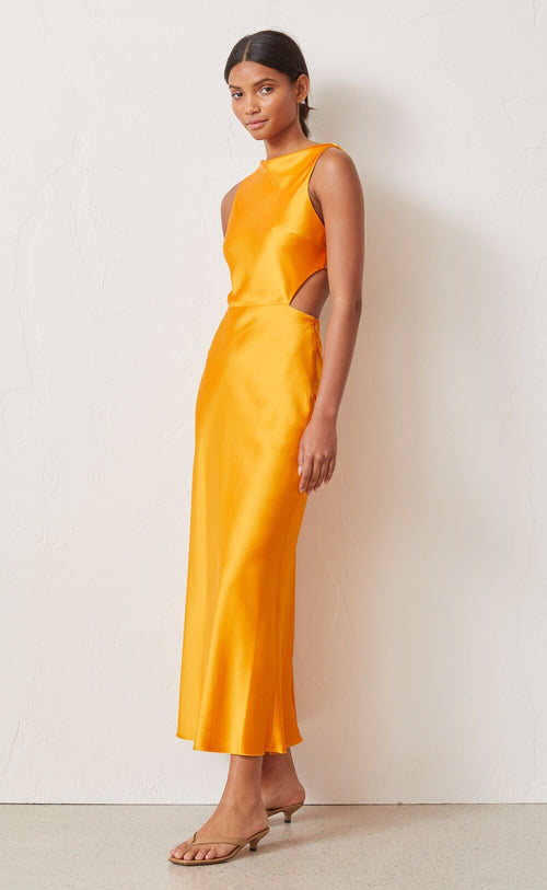 Seraphine Cut Out Dress- Tangerine
