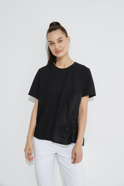 Ruched Top- Black