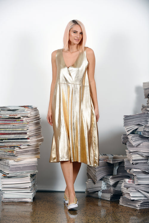 Extra Extra Dress- Gold