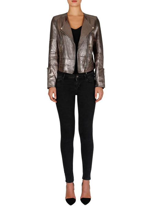 Born To Be Wild Leather Jacket- Bronze