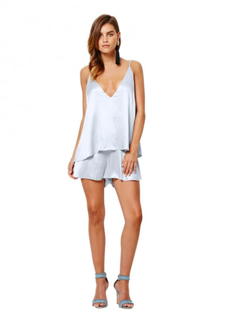 V-Neck Lace Playsuit- Restless Nights
