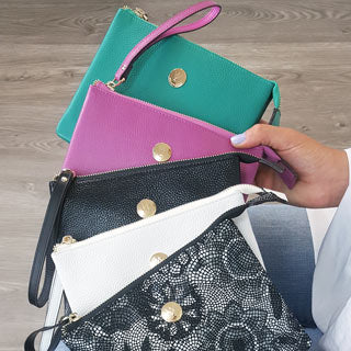 Bliss clutch in 5 colours