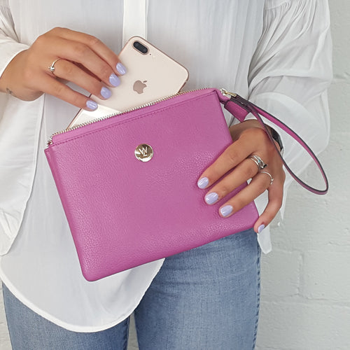 Bliss clutch in 4 colours
