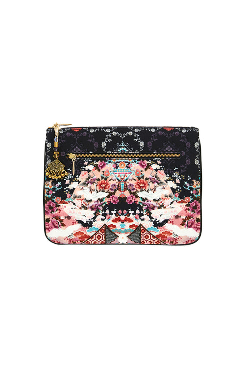 Small Canvas Clutch- Nights With Her