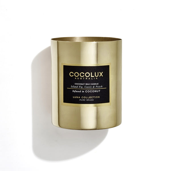 350g Luna Brass Candle- available in 8 scents