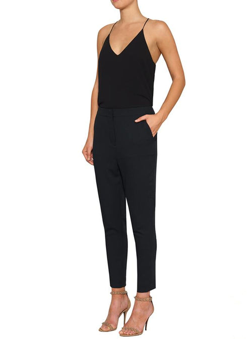 Day To Night Crop Tapered Pant- Black
