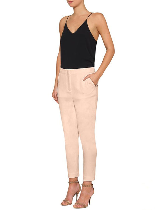 Day To Night Crop Tapered Pant- Nude