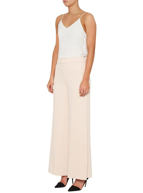 Day To Night High Waisted Wide Leg Pant- Nude
