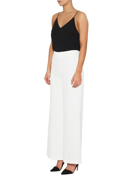 Day To Night High Waisted Wide Leg Pant- White