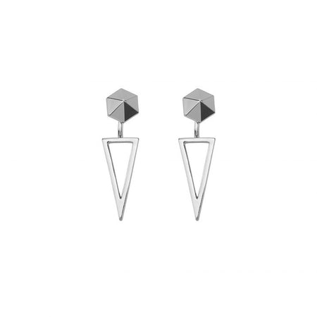 Cadena Earrings- Silver