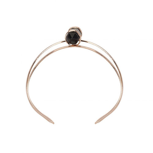 Dawns Exhale Fine Cuff- Onyx/Rose Gold