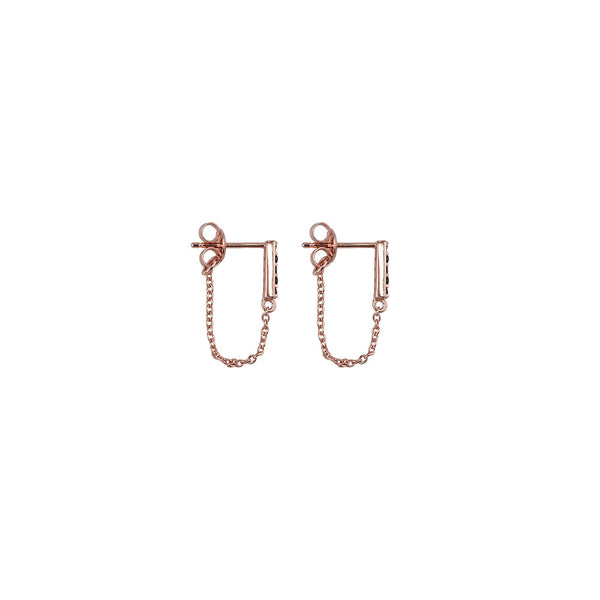 Desert Willow Earrings- Rose Gold