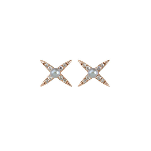 Evening Shine Stud Earring- Rose Gold