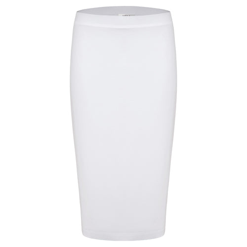 Pencil Double Skirt- White