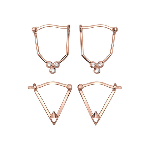 Gold Dust Nights Earring Set- Rose Gold
