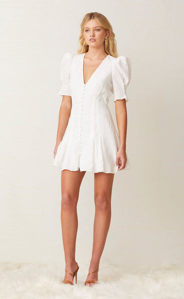 Puka Shell Mini Dress- Ivory