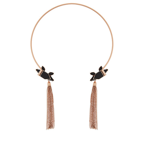 Heart Wonder Collar Necklace- Rose Gold
