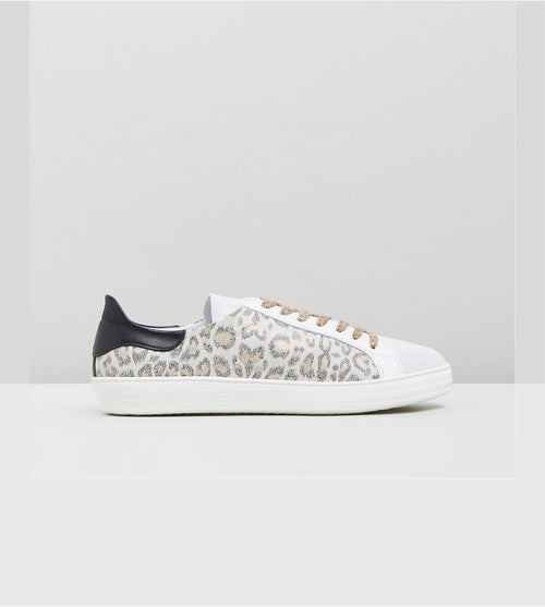 Indiana Sneakers- White Leopard