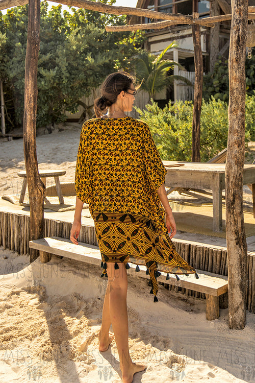 Skorpios Kaftan- Yellow