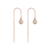 Jasmine & Fleetwood Drop Earrings- Rose Gold