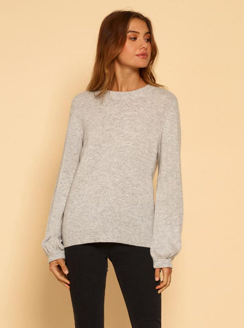 Superluxe Balloon Sleeve Knit- Grey Marle