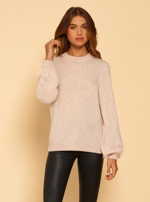 Superluxe Balloon Sleeve Knit- Smokey Pink