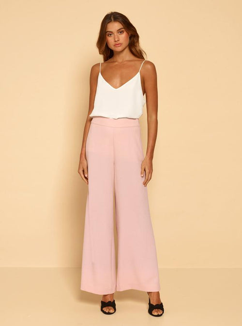 Borderline Wide Leg Pant- Smokey Pink