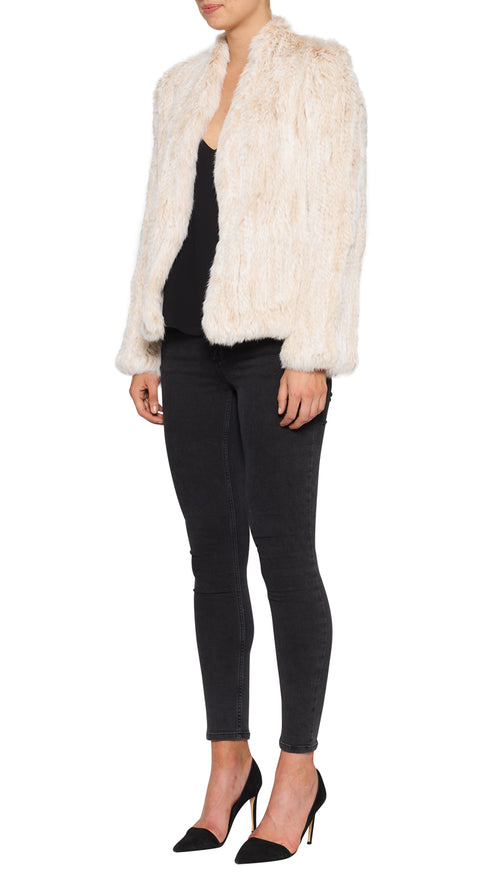 Lush Luxe Fur Jacket- Blushing