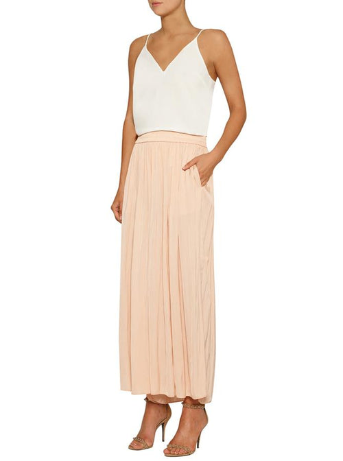 Look Twice Wide Leg Pant- Nude