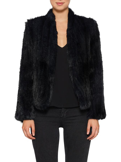 Lush Luxe Fur Jacket- Black