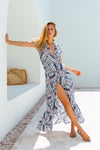 Savannah Wrap Dress- Amalfi