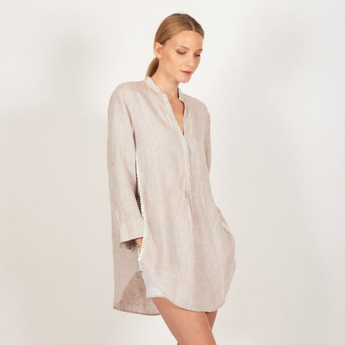 Linen + Lace Shirt- String