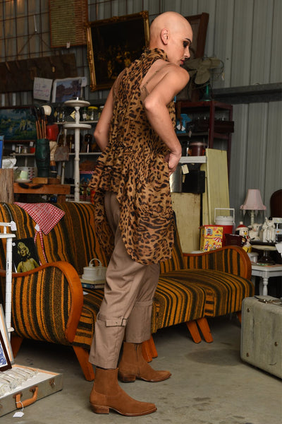 Mufasa Sleeveless Top- Cheetah