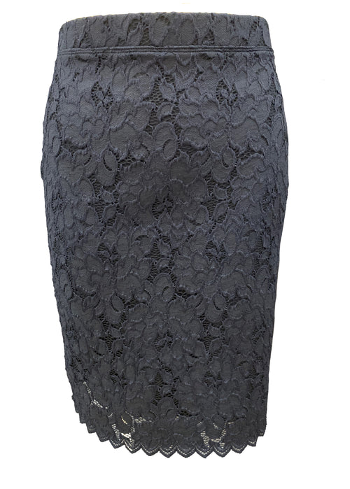 Mid Double Skirt- Navy Liberty Lace