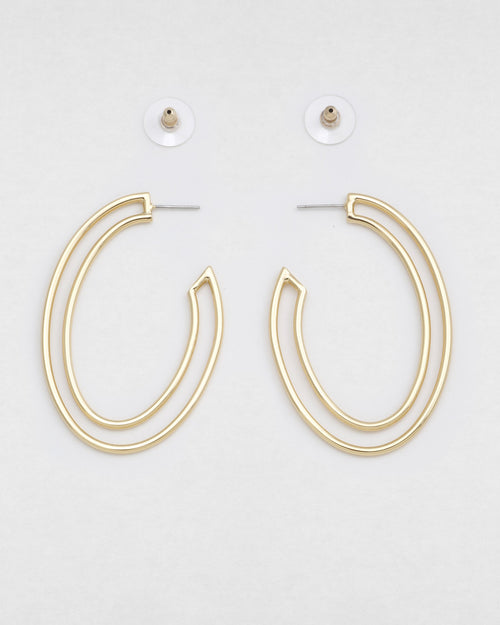 Papi Oval Hoops- Gold