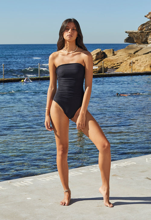 Golden Hour One Piece- Black