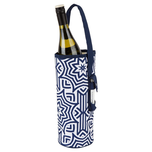 Cooler Bottle Tote- Azule