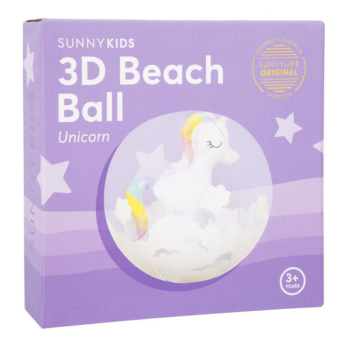 3D Inf Beach Ball- Unicorn
