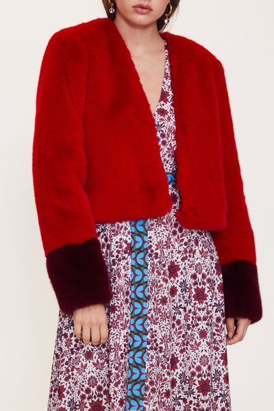 Inside Out Coat- Red