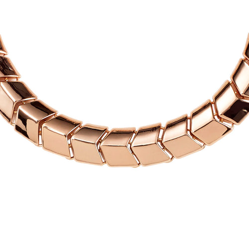 Spanish Moss Collar Necklace- Rose Gold