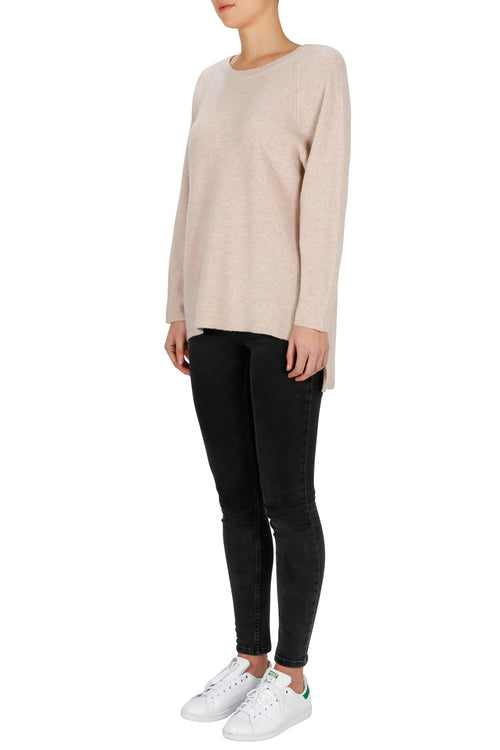 Superluxe Oversized Open Back Sweater- Soft Rose