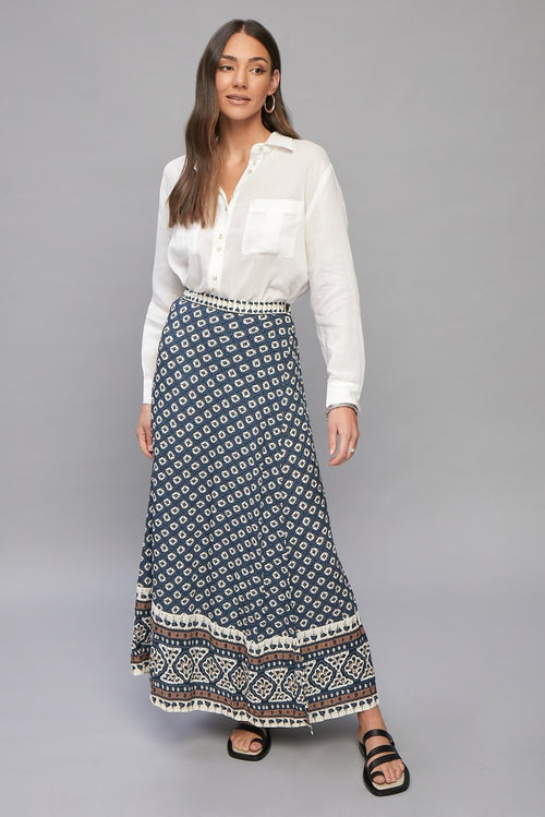Belize Gabriella Wrap Maxi Skirt