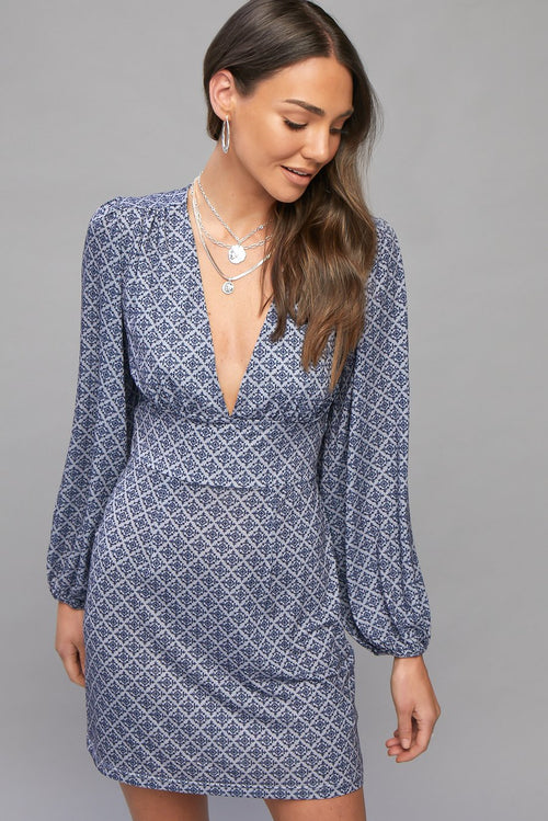 Samara Mia Mini Dress- Dusk