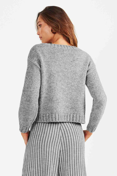 Arles Knit- Grey Marle