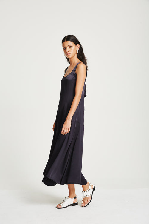 Kaia Slip Dress- Navy
