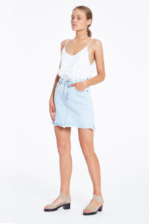 Salty Skirt- Washed Blue
