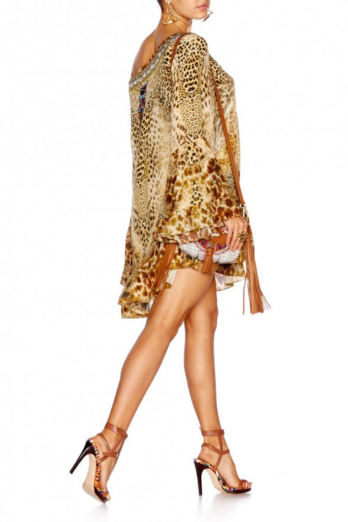A Line Frill Dress- Leopards Leap